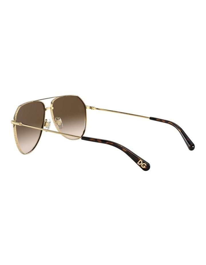 Brown Aviator Sunglasses 0DG2244 1527856001 image 5