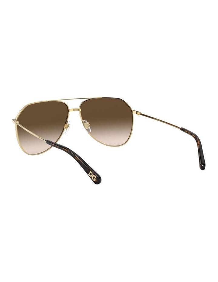 Brown Aviator Sunglasses 0DG2244 1527856001 image 6