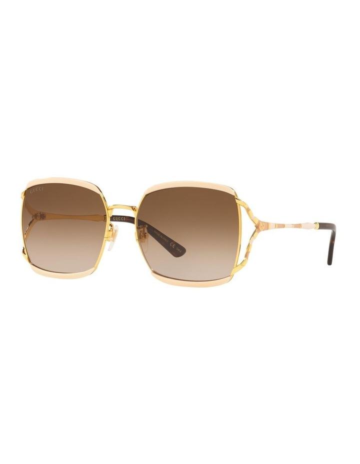 Brown Square Sunglasses 0GC001339 1528776002 image 1