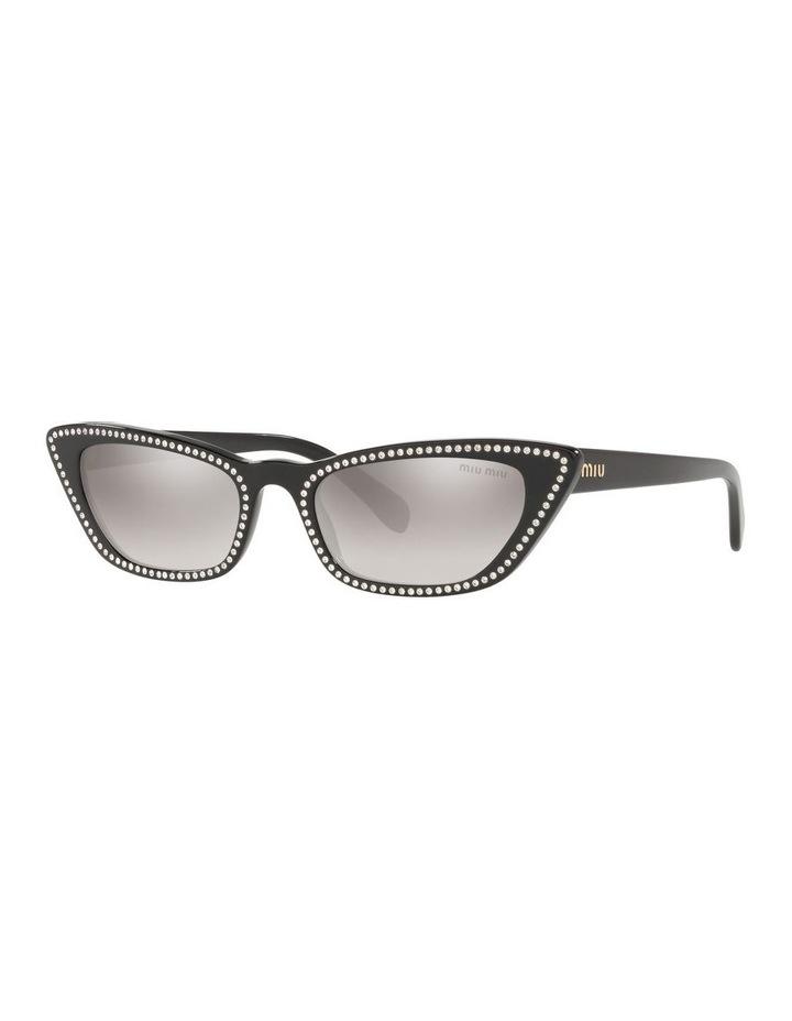 Grey Cat Eye Sunglasses 0MU 10US 1524425001 image 1