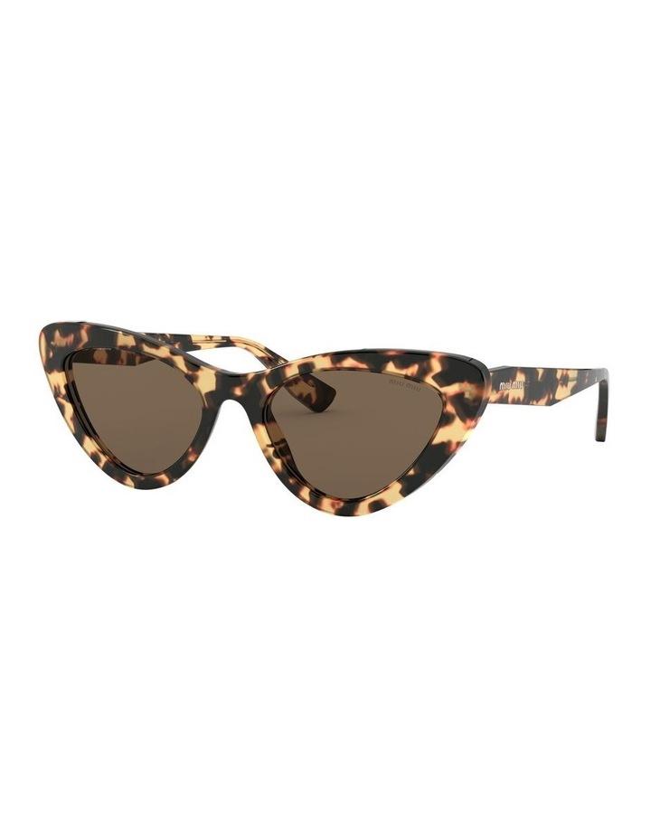 Brown Cat Eye Sunglasses 0MU 01VS 1526556002 image 1