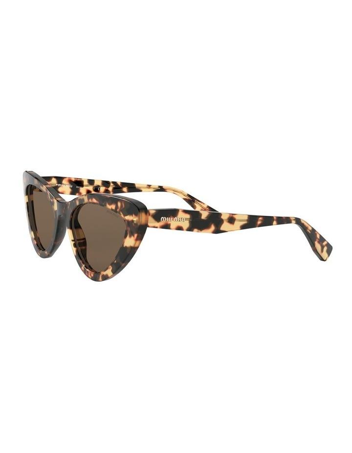 Brown Cat Eye Sunglasses 0MU 01VS 1526556002 image 3