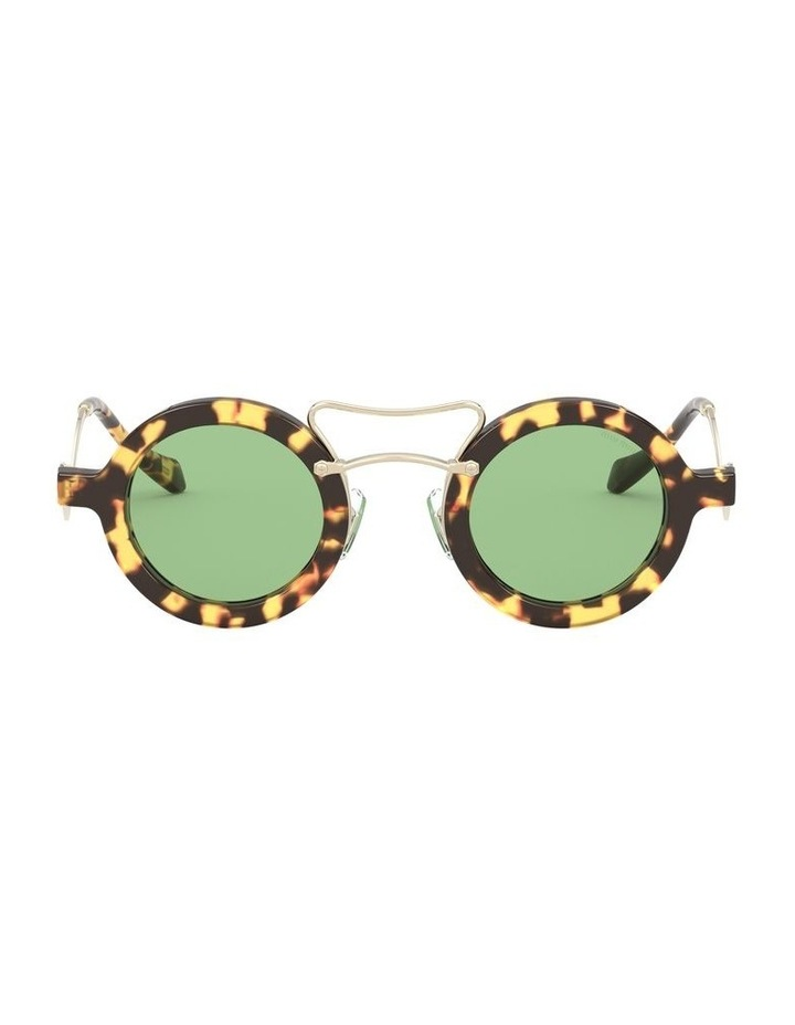 Green Round Sunglasses 0MU 02VS 1526705003 image 2