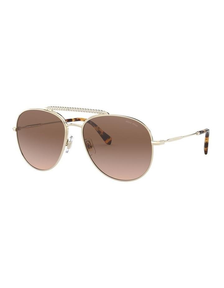 Brown Aviator Sunglasses 0MU 53VS 1527859002 image 1