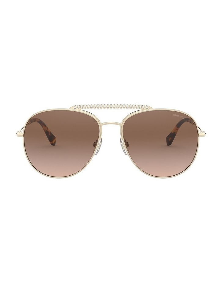 Brown Aviator Sunglasses 0MU 53VS 1527859002 image 2