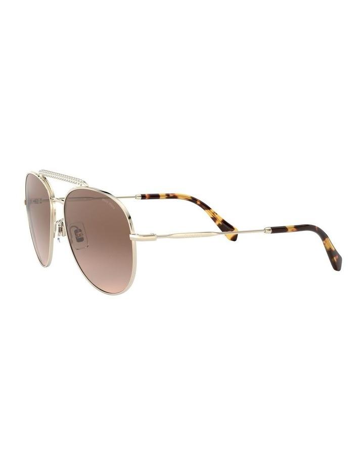 Brown Aviator Sunglasses 0MU 53VS 1527859002 image 3