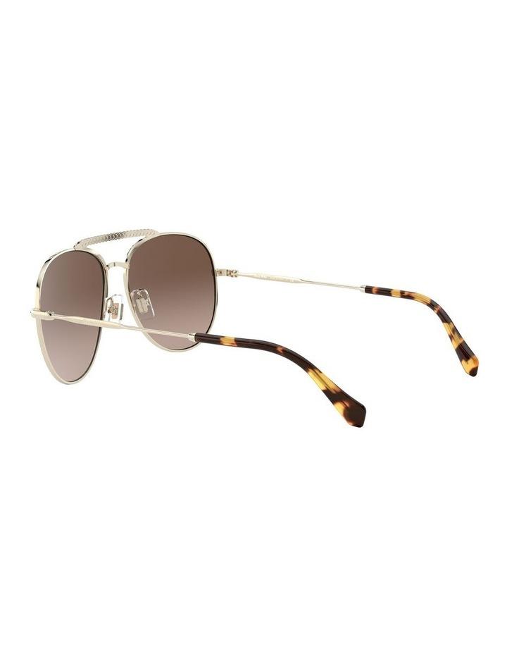 Brown Aviator Sunglasses 0MU 53VS 1527859002 image 5
