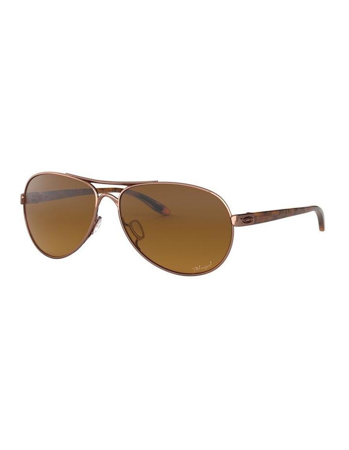 Feedback Polarised Brown Aviator Sunglasses 0OO4079 1138042009 image 1