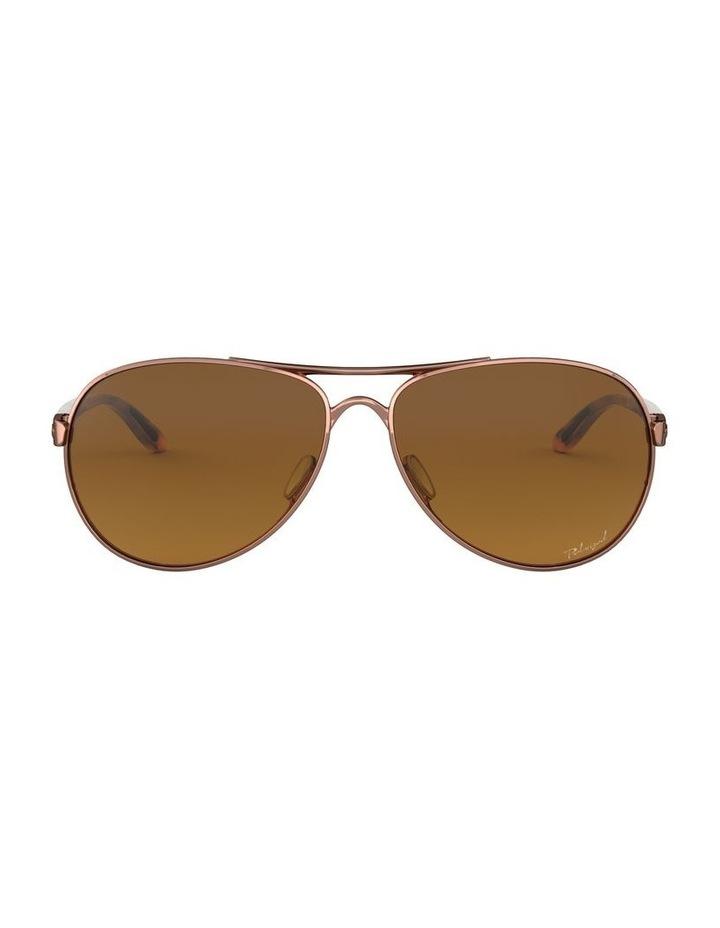 Feedback Polarised Brown Aviator Sunglasses 0OO4079 1138042009 image 2