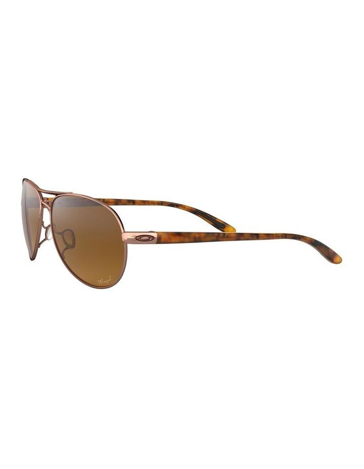 Feedback Polarised Brown Aviator Sunglasses 0OO4079 1138042009 image 3