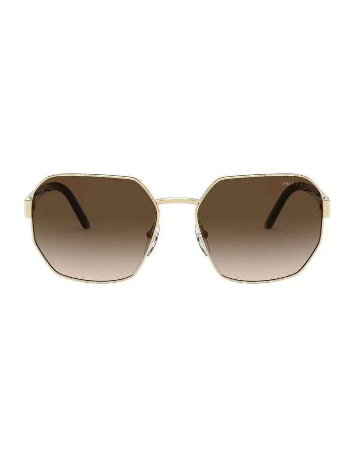 Brown Hexagonal Sunglasses 0PR 54XS 1527867002 image 2