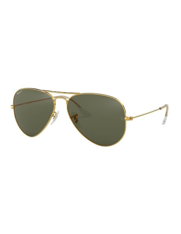 Aviator Large Metal Polarised Green Sunglasses 0RB3025 1062738031 image 1
