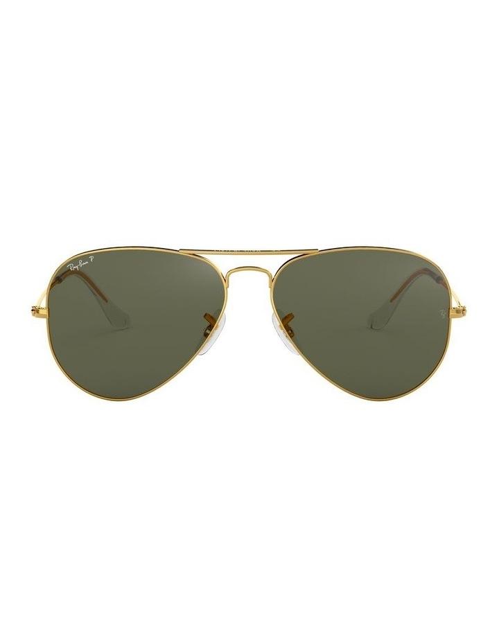 Aviator Large Metal Polarised Green Sunglasses 0RB3025 1062738031 image 2
