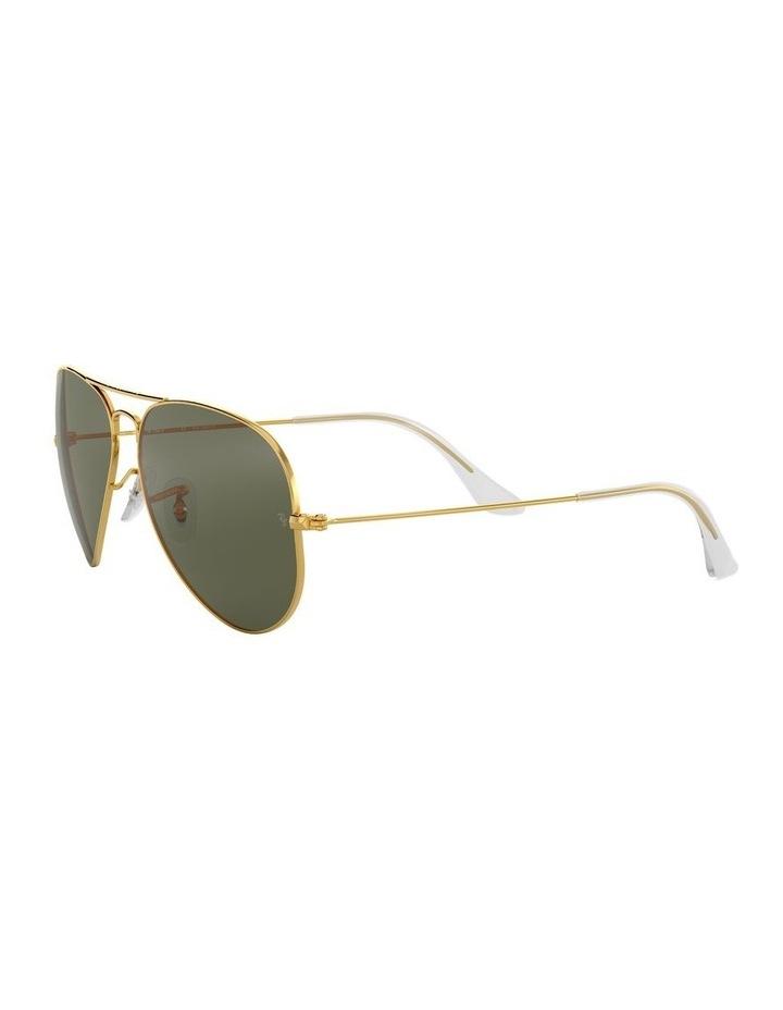 Aviator Large Metal Polarised Green Sunglasses 0RB3025 1062738031 image 3