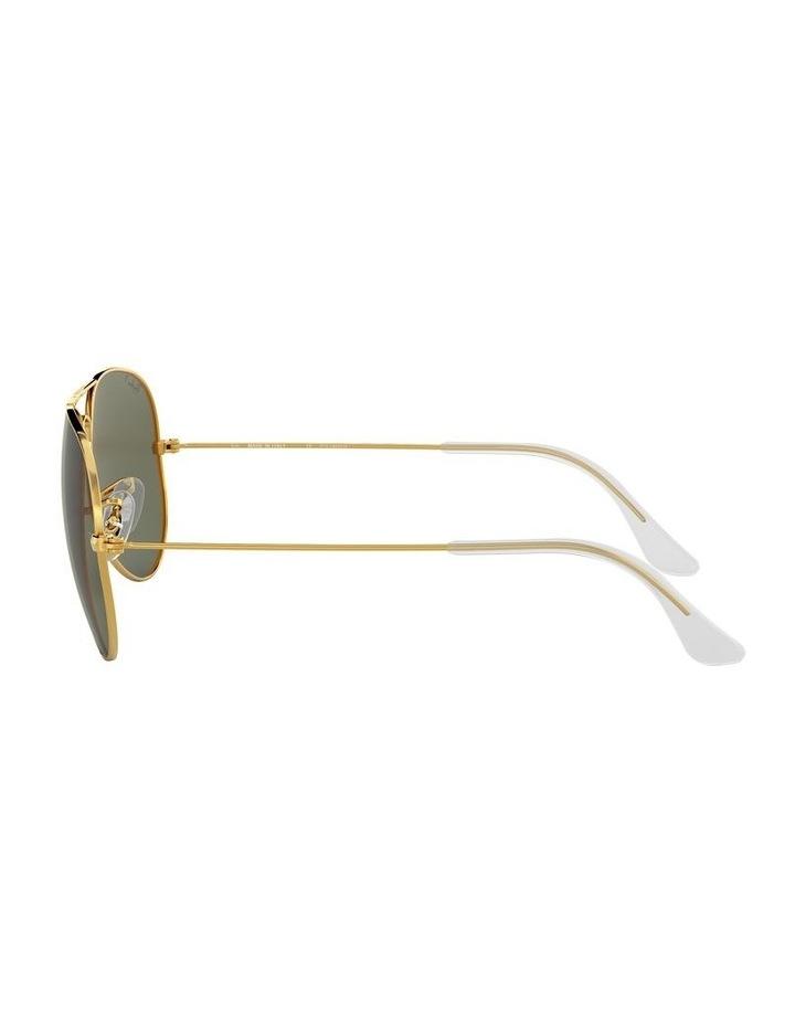 Aviator Large Metal Polarised Green Sunglasses 0RB3025 1062738031 image 4