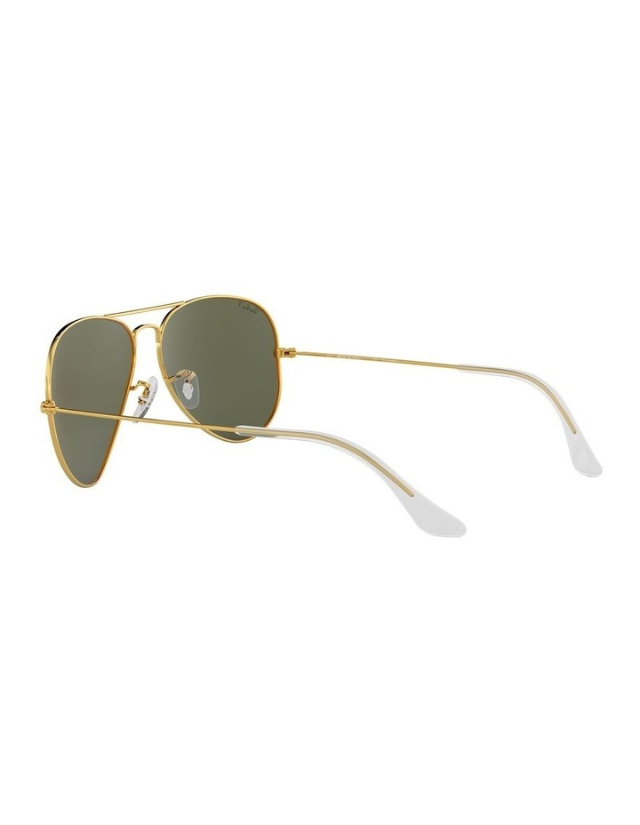 Aviator Large Metal Polarised Green Sunglasses 0RB3025 1062738031 image 5
