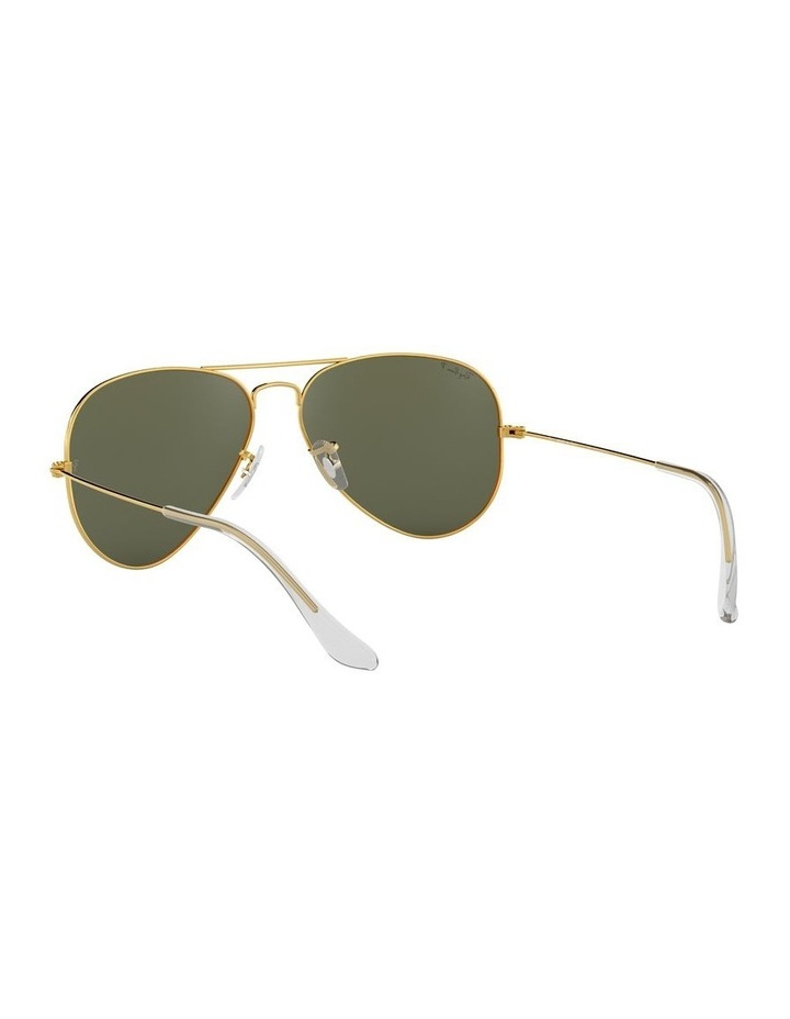 Aviator Large Metal Polarised Green Sunglasses 0RB3025 1062738031 image 6