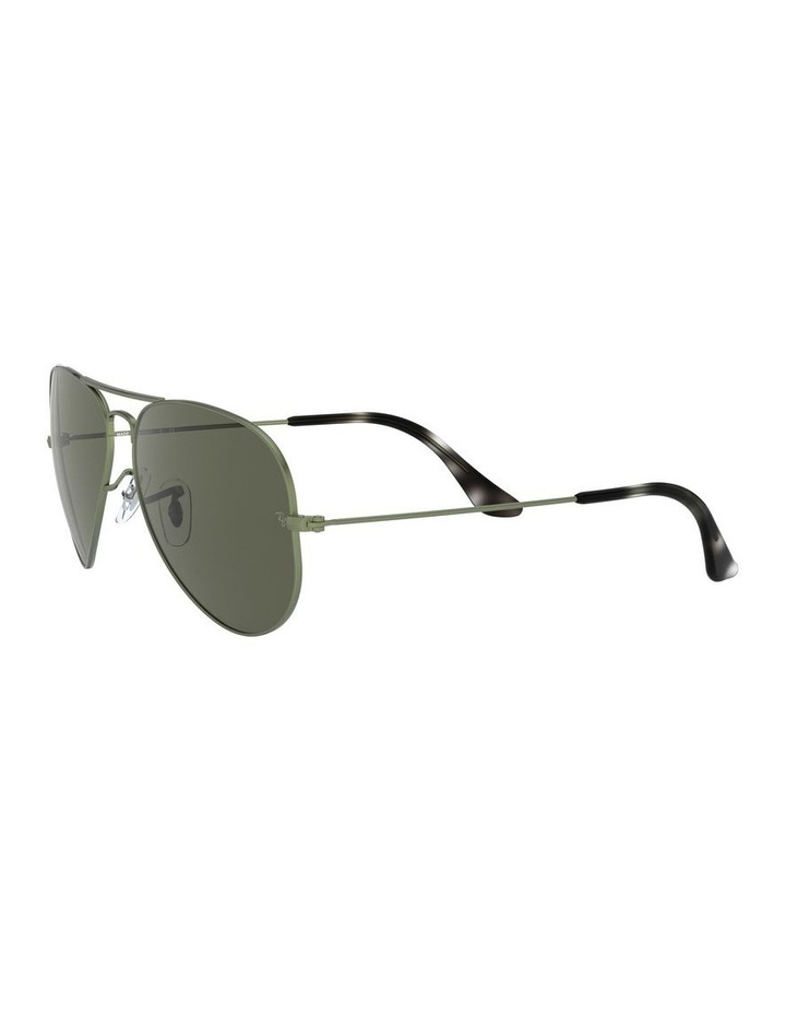 Aviator Large Metal Green Sunglasses 0RB3025 1062740067 image 3