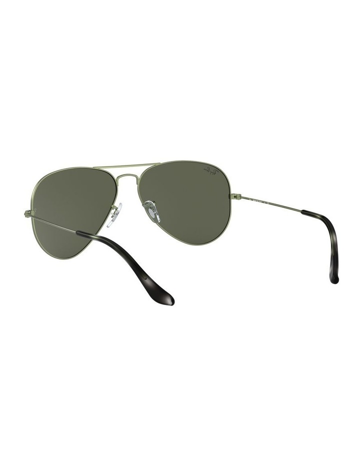Aviator Large Metal Green Sunglasses 0RB3025 1062740067 image 6
