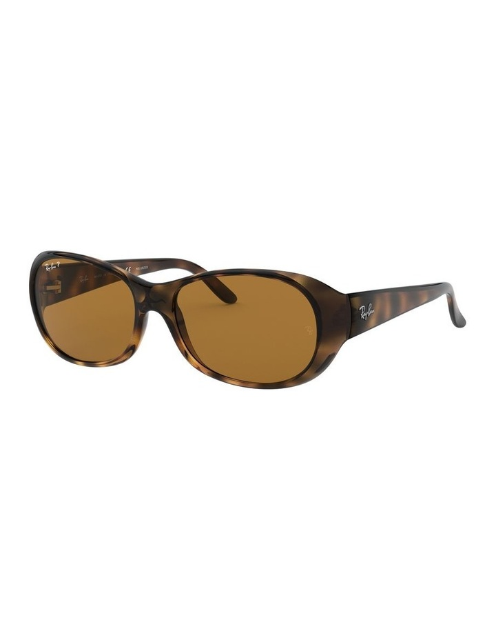 Polarised Brown Rectangle Sunglasses 0RB4061 1062934003 image 1