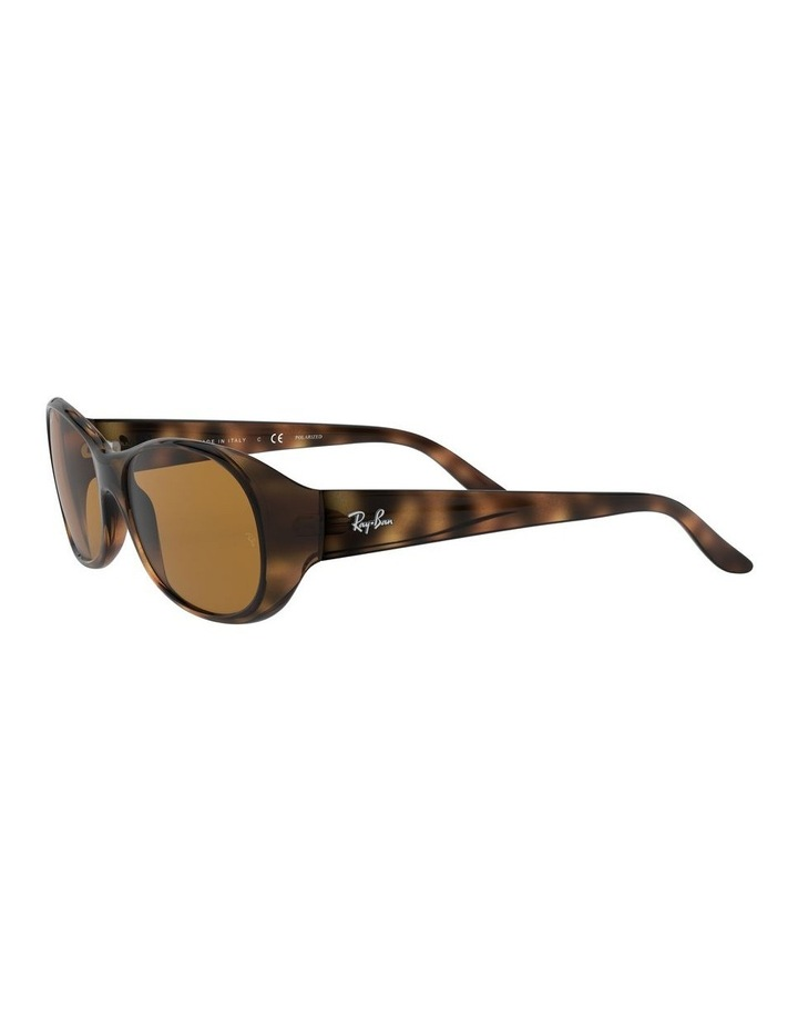 Polarised Brown Rectangle Sunglasses 0RB4061 1062934003 image 3