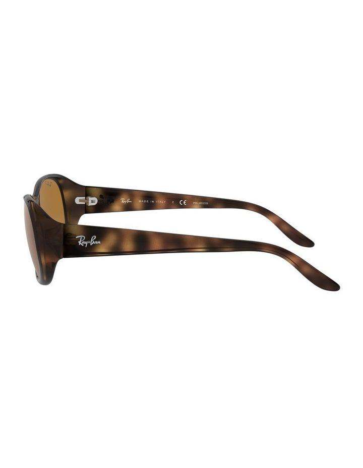 Polarised Brown Rectangle Sunglasses 0RB4061 1062934003 image 4