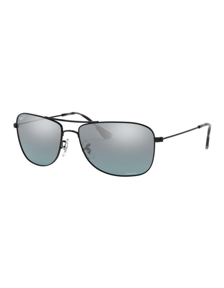 Polarised Brown Rectangle Sunglasses 0RB3543 1510022005 image 1