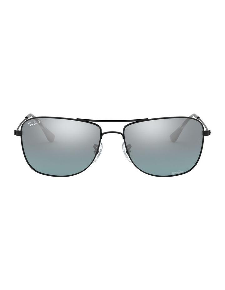 Polarised Brown Rectangle Sunglasses 0RB3543 1510022005 image 2