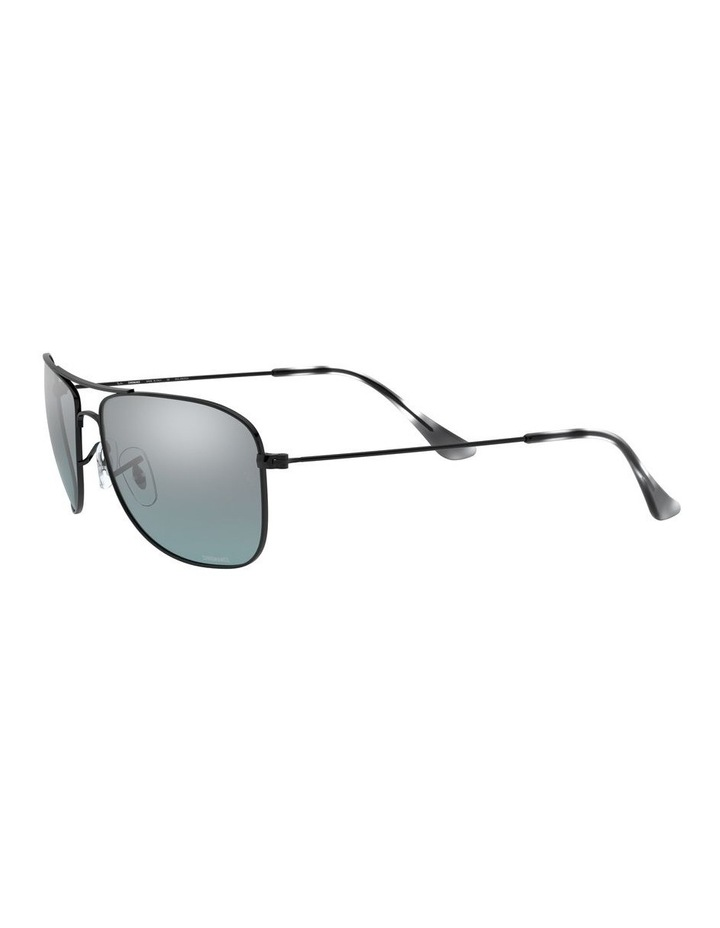 Polarised Brown Rectangle Sunglasses 0RB3543 1510022005 image 3