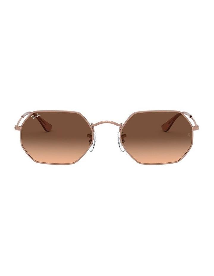 Octagonal Brown Sunglasses 0RB3556N 1513005008 image 2