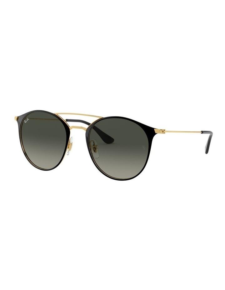 Grey Double Bridge Round Sunglasses 0RB3546 1513014002 image 1