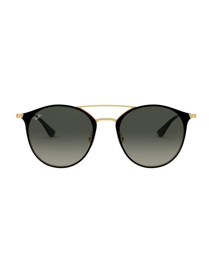 Grey Double Bridge Round Sunglasses 0RB3546 1513014002 image 2