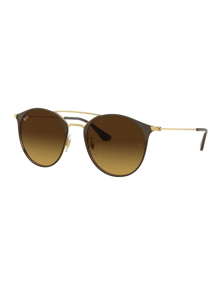 Brown Double Bridge Round Sunglasses 0RB3546 1513014003 image 1