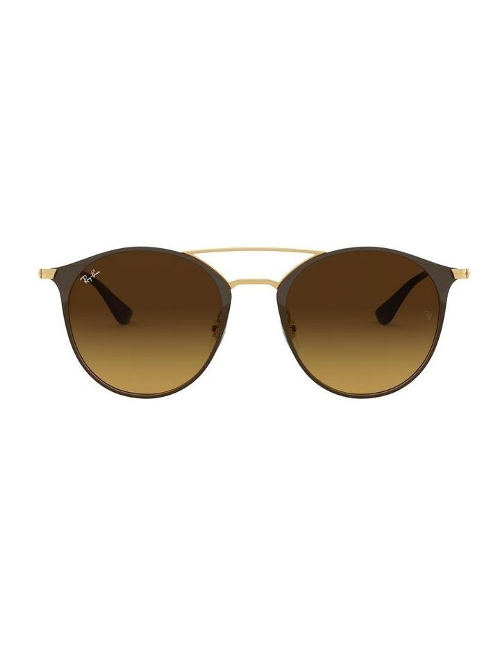 Brown Double Bridge Round Sunglasses 0RB3546 1513014003 image 2