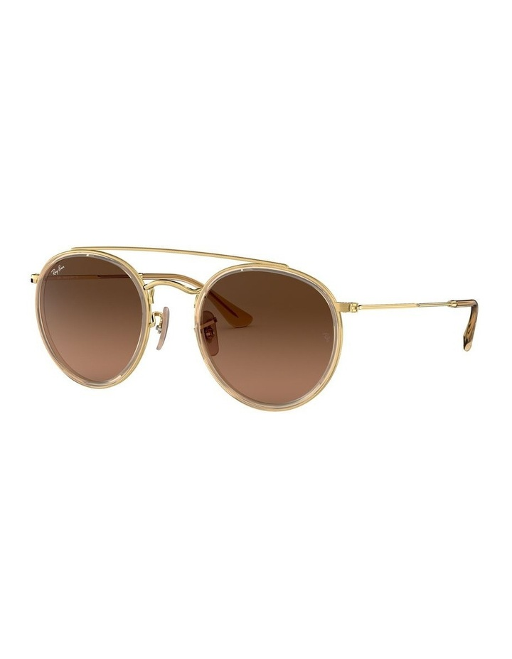 Round Double Bridge Brown Sunglasses 0RB3647N 1515587017 image 1
