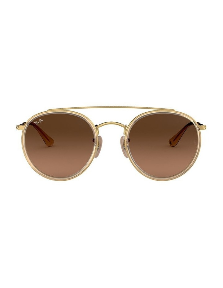 Round Double Bridge Brown Sunglasses 0RB3647N 1515587017 image 2