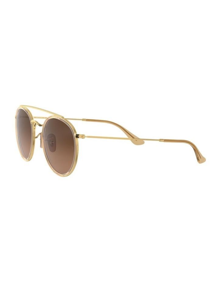 Round Double Bridge Brown Sunglasses 0RB3647N 1515587017 image 3