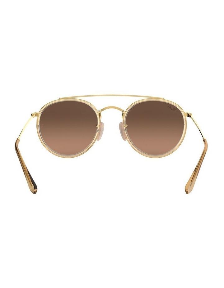 Round Double Bridge Brown Sunglasses 0RB3647N 1515587017 image 7