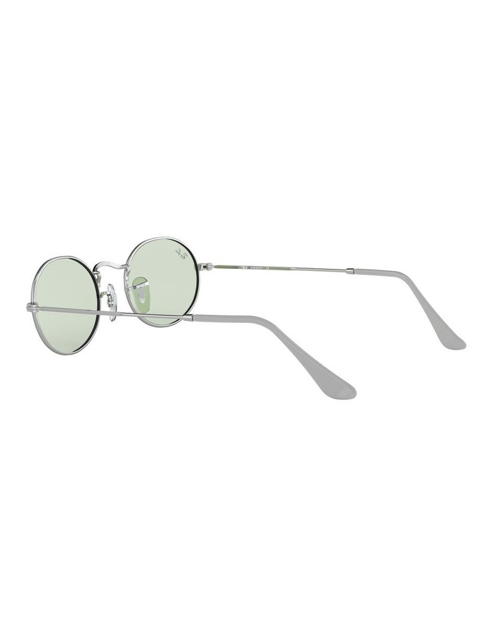 Oval Green Sunglasses 0RB3547 1523751007 image 5