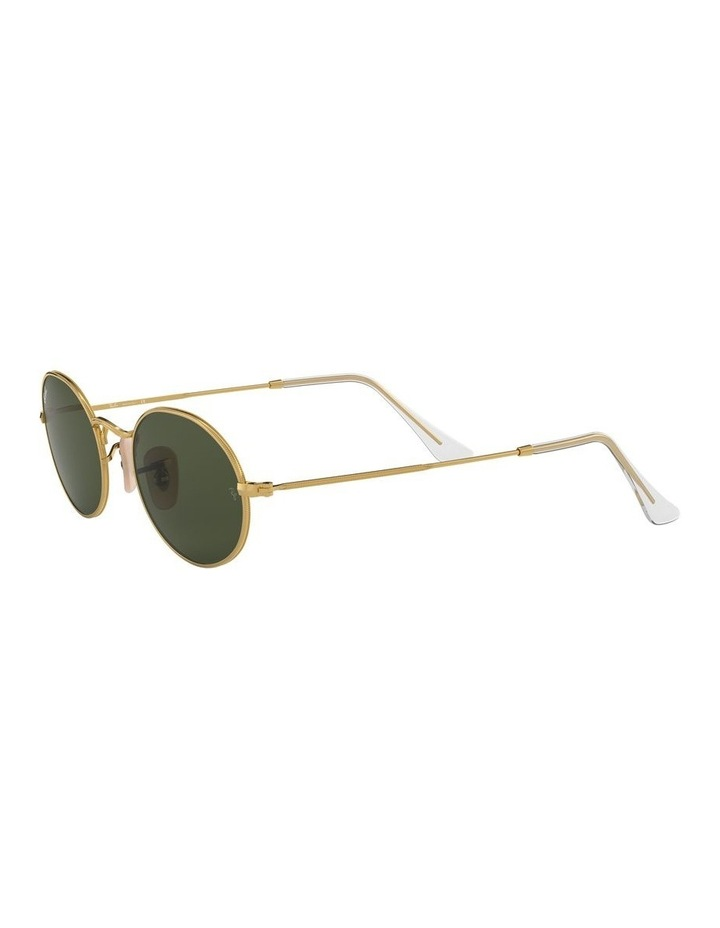 Oval Green Sunglasses 0RB3547 1523752001 image 3