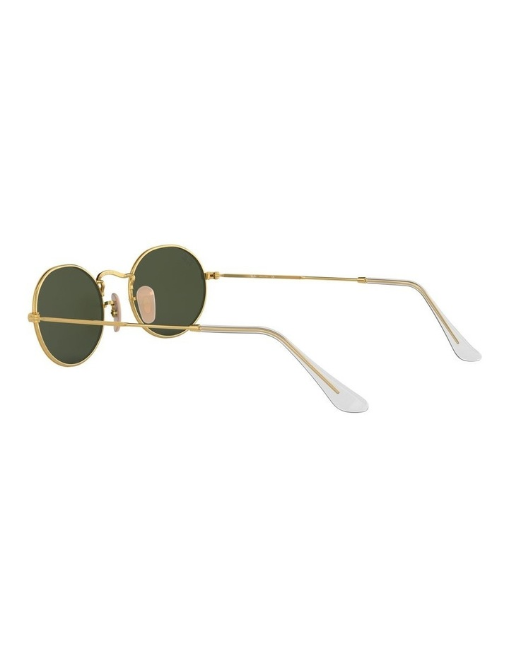 Oval Green Sunglasses 0RB3547 1523752001 image 5