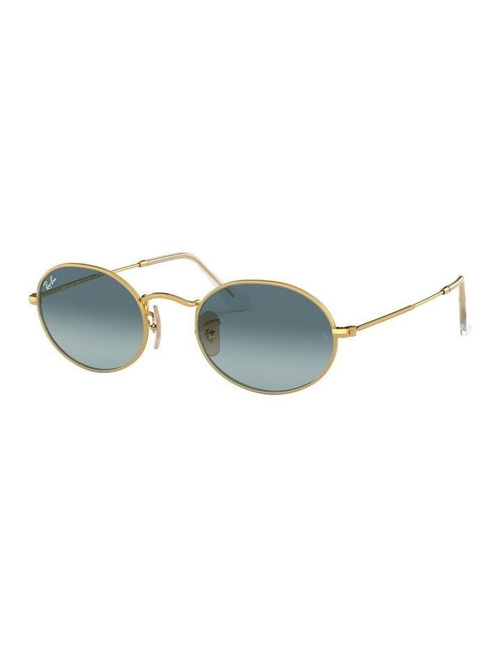 Oval Blue Sunglasses 0RB3547 1523752002 image 1