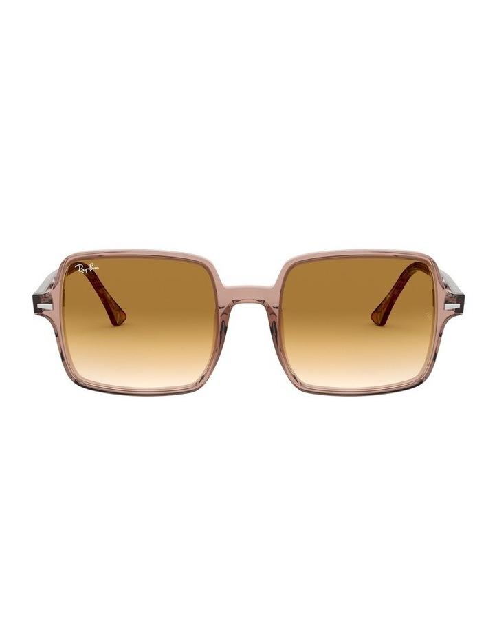 Square II Transparent Brown Square Sunglasses 0RB1973 1526222001 image 2