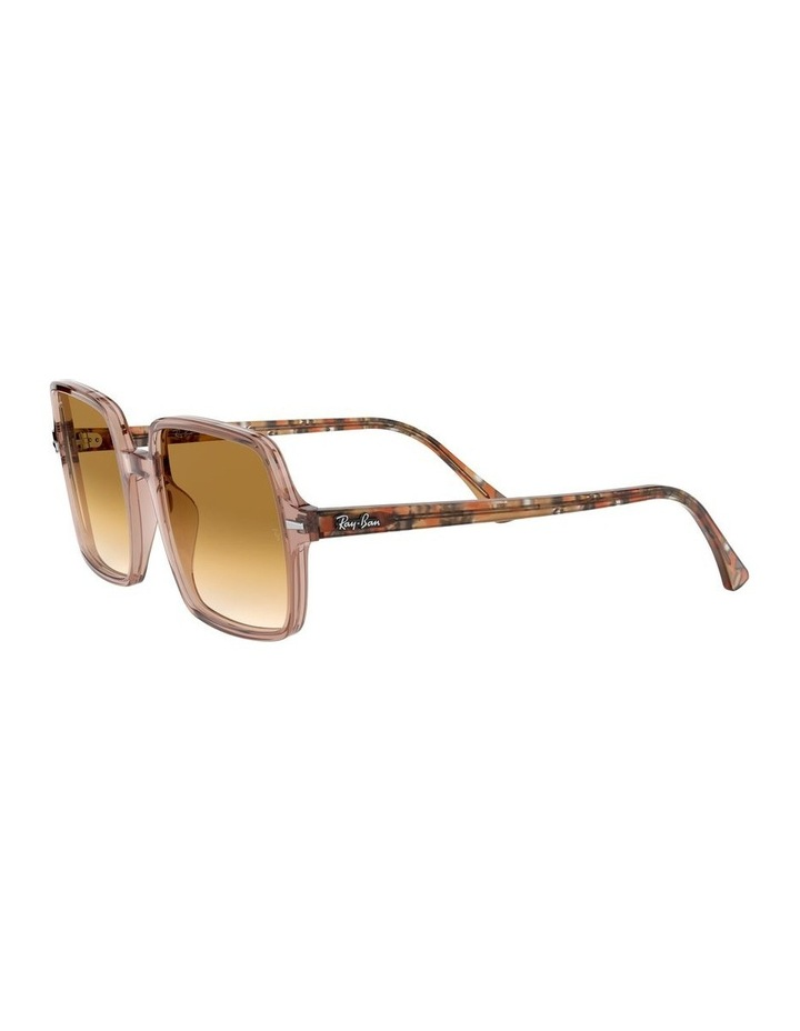 Square II Transparent Brown Square Sunglasses 0RB1973 1526222001 image 3