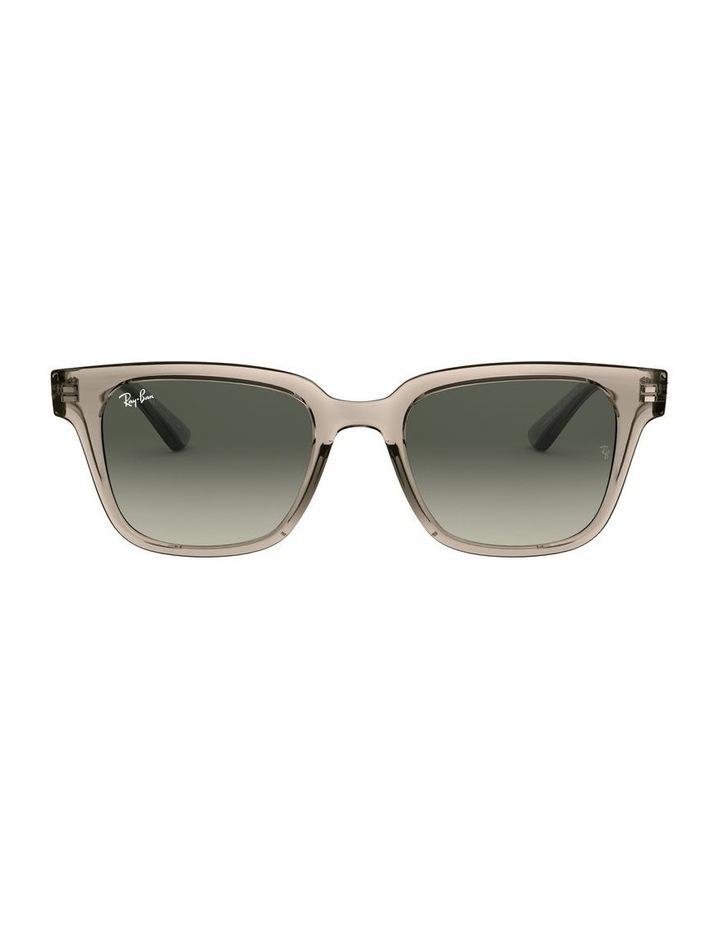 Transparent Grey Square Sunglasses 0RB4323 image 2