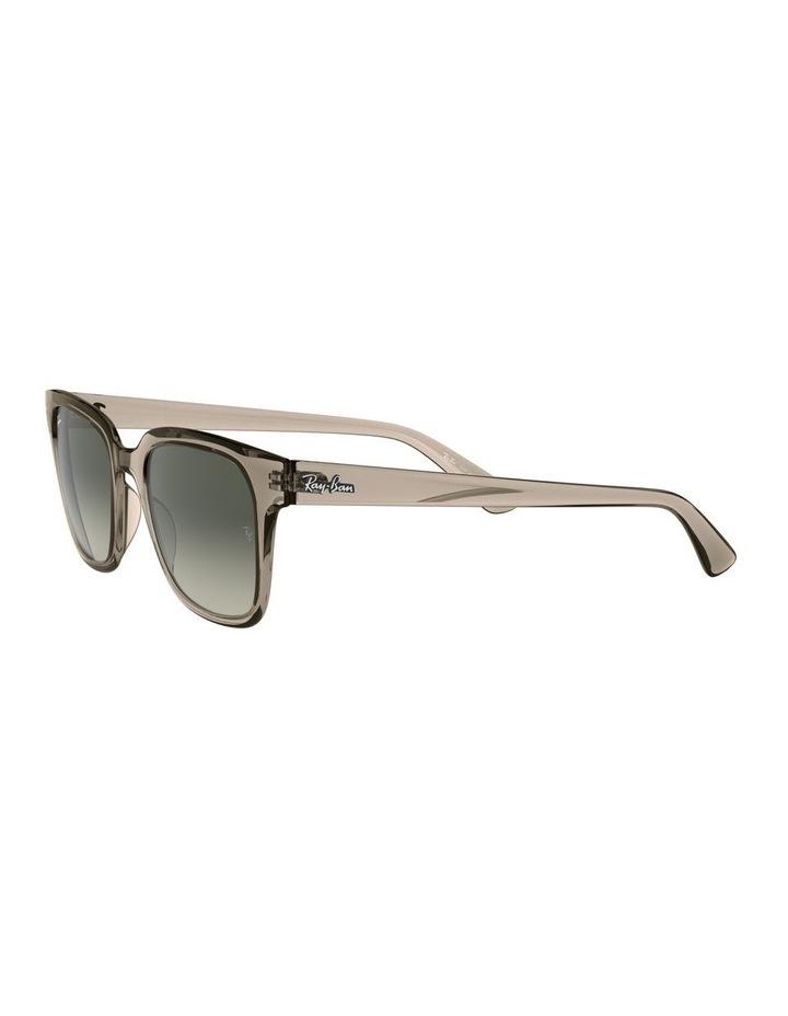 Transparent Grey Square Sunglasses 0RB4323 image 3
