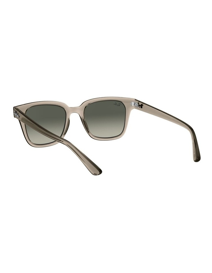 Transparent Grey Square Sunglasses 0RB4323 image 6