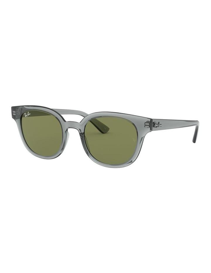 Transparent Grey Square Sunglasses 0RB4324 image 1