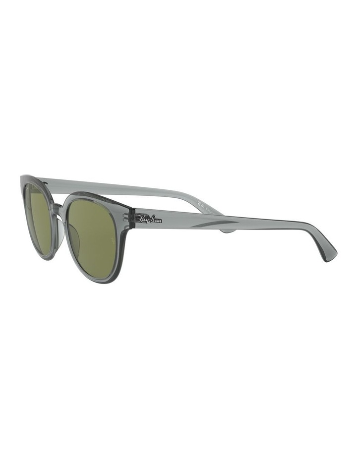 Transparent Grey Square Sunglasses 0RB4324 image 3