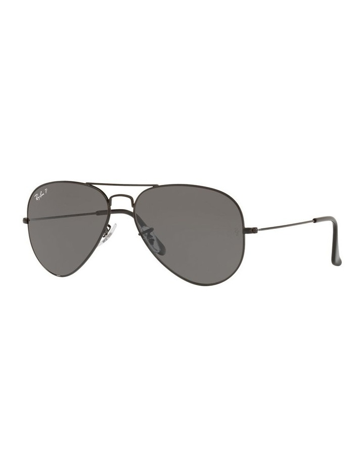 Large Grey Metal Polarised Aviator Sunglasses 0RB3025 1062739161 image 1